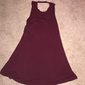 Maroon dress-boutique style